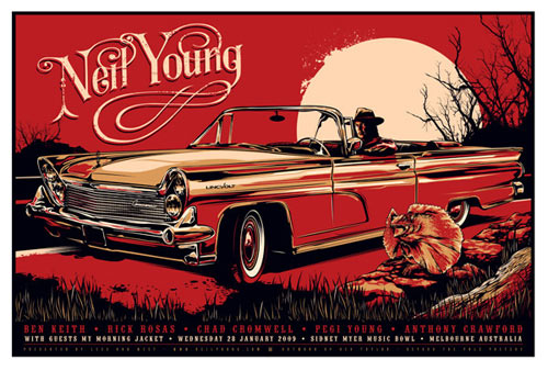 Ken Taylor Neil Young Poster