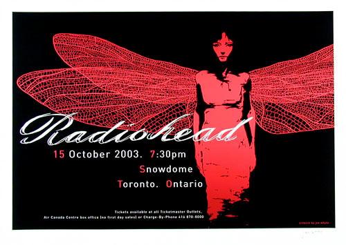Joe Whyte Radiohead Poster