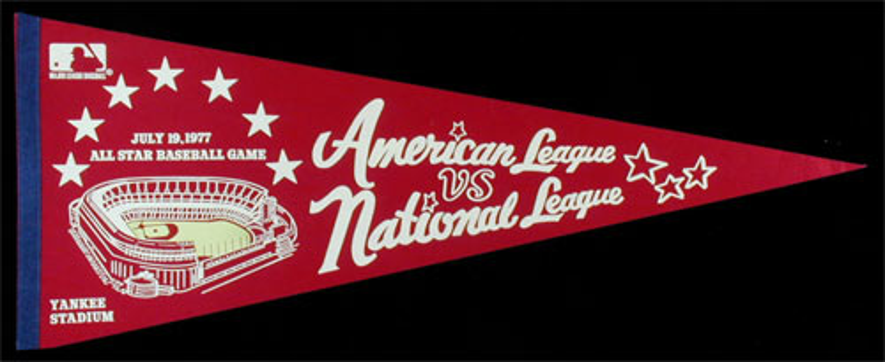 MLB All Star Game July 19 1977 Yankee Stadium Pennant