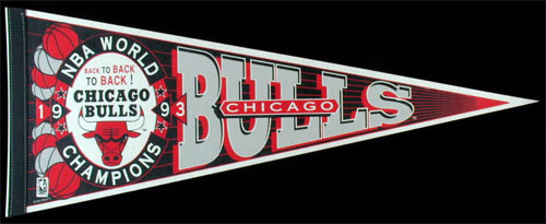 Chicago Bulls 1993 NBA World Champions Pennant