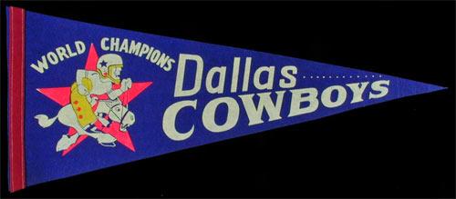 Dallas Cowboys World Champions Pennant