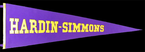 Hardin-Simmons University Pennant