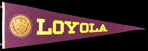 promo code a239b 0c4d8 Details about Loyola University _RARE_ 1920's Felt/Leather Pennant vtg New  Orleans Wolfpack