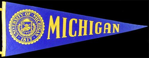 University of Michigan Football Pennant