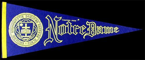University of Notre Dame Fighting Irish Pennant