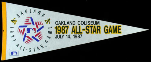 Oakland A's 1987 All-Star Game Baseball Pennant