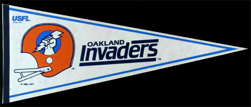 Oakland Invaders USFL Pennant