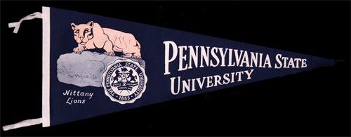 Pennsylvania State University Nittany Lions Pennant