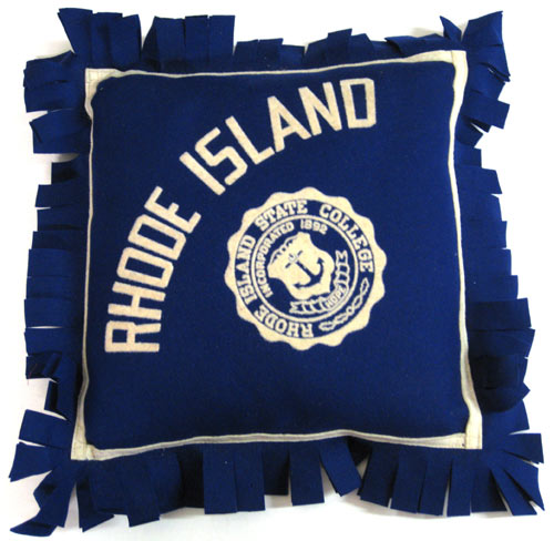 Rhode Island State College (University of Rhode Island) Pillow