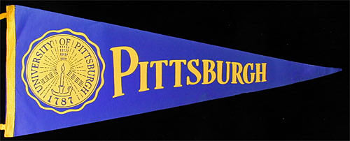 University of Pittsburgh Football Pennant