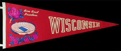 1960/1963 University of Wisconsin Rose Bowl Pennant