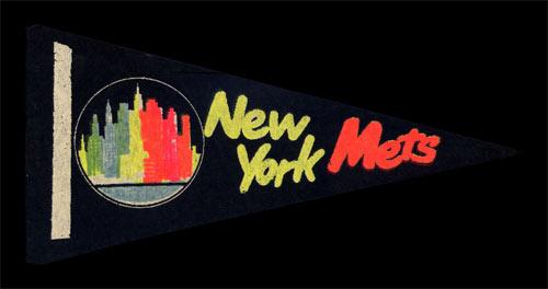 New York Mets Baseball Mini Pennant