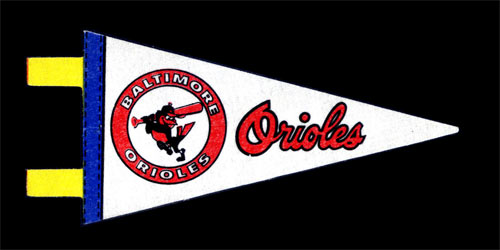 Baltimore Orioles Baseball Mini Pennant