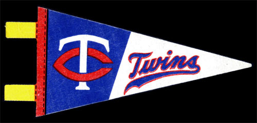 Minnesota Twins Baseball Mini Pennant