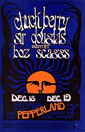 Daddy Bread Chuck Berry Boz Scaggs Pepperland Handbill