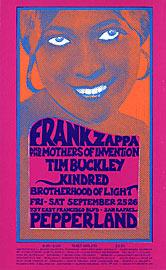 Mark Behrens Frank Zappa, Tim Buckley Pepperland Handbill