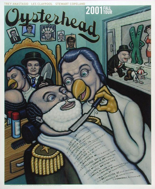 Tim Slowinski Oysterhead 2001 Fall Tour Poster