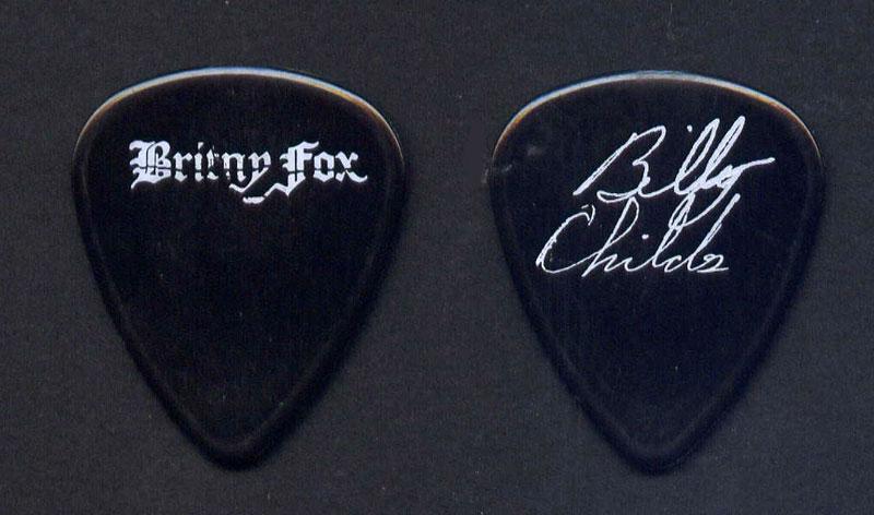 Britny Fox Billy Childs Black Guitar Pick