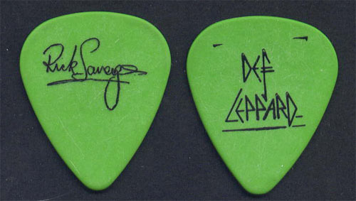 Def Leppard Rick Savage Guitar Pick