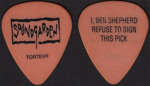 Soundgarden Ben Shepherd Guitar Pick