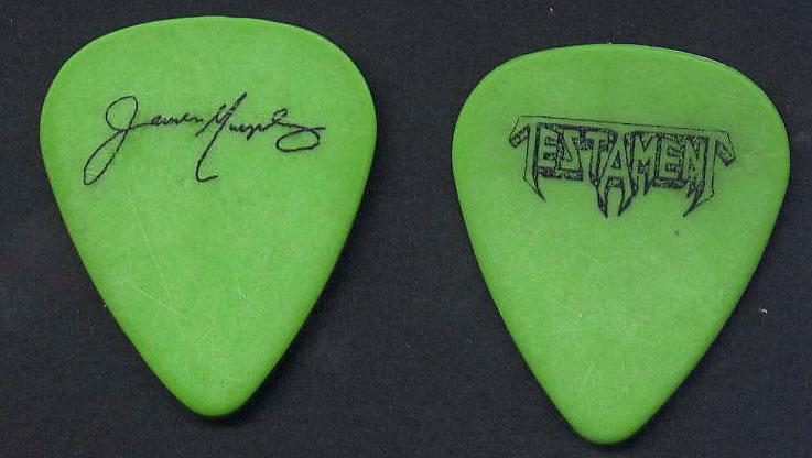 Testament - James Murphy Green Guitar Pick