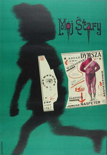 Roman Cieslewicz Moj Stary Polish Movie Poster