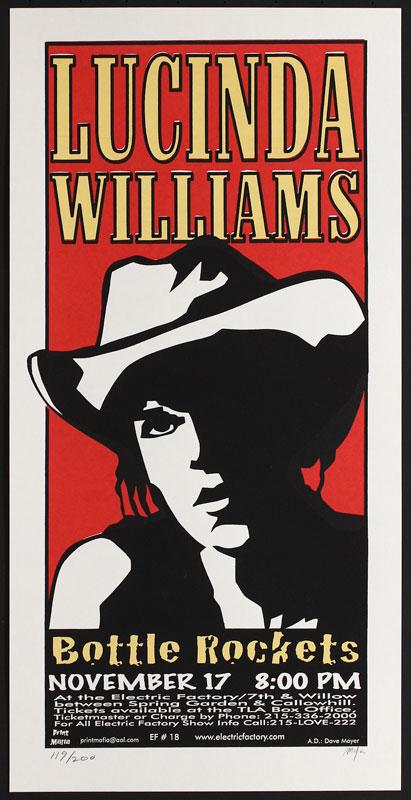 Print Mafia Lucinda Williams Poster