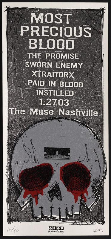 Print Mafia Most Precious Blood Poster