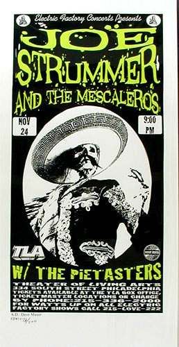 Print Mafia Joe Strummer And The Mescaleros Handbill
