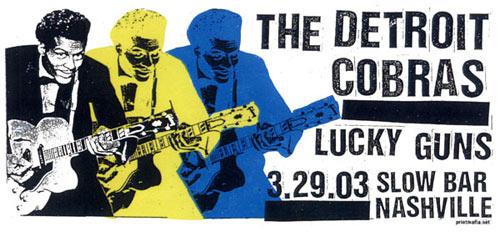 Print Mafia Detroit Cobras Poster