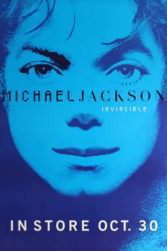 Michael Jackson Invincible Blue Promo Poster