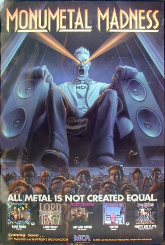 Monumetal Madness MCA Metal Album Catalog Promo Poster