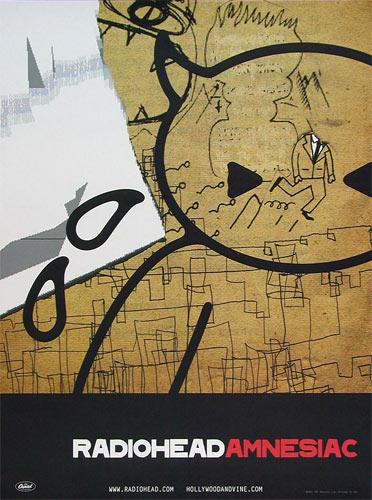 Radiohead - Amnesiac Album Release Promo Poster