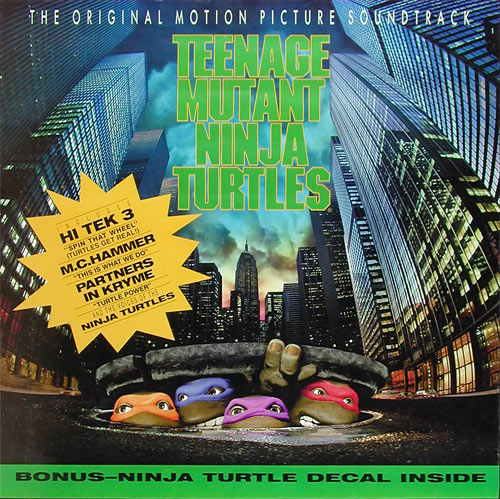 Teenage Mutant Ninja Turtles Movie Soundtrack Album Release Promo Poster