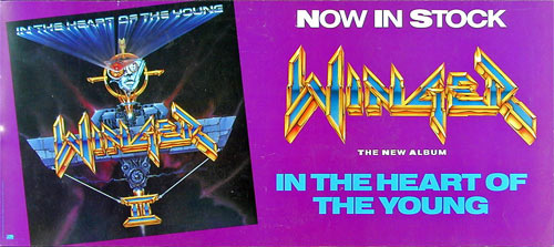 Winger In The Heart of the Young Album Release Promo Poster