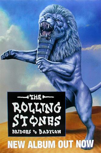The Rolling Stones Bridges to Babylon Promo Poster