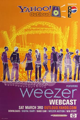 Weezer Yahoo Outloud Webcast Online Concert Poster