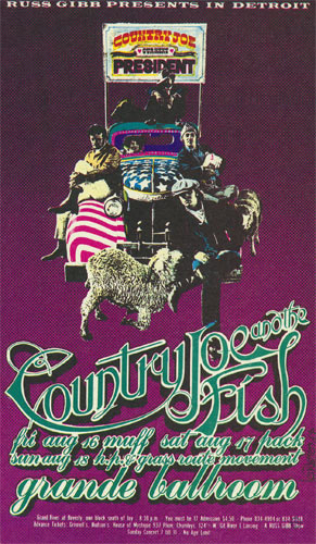 Carl Lundgren Country Joe and the Fish postcard