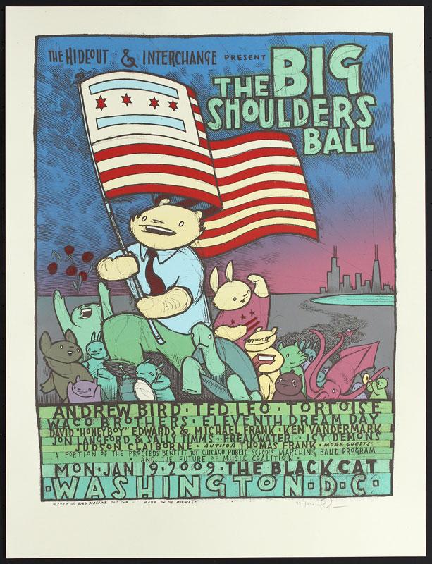 Jay Ryan Big Shoulders Ball Poster