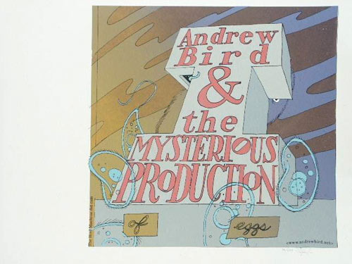 Jay Ryan Andrew Bird and the Mysterious Production of Eggs 2005 Album Release Promo Poster