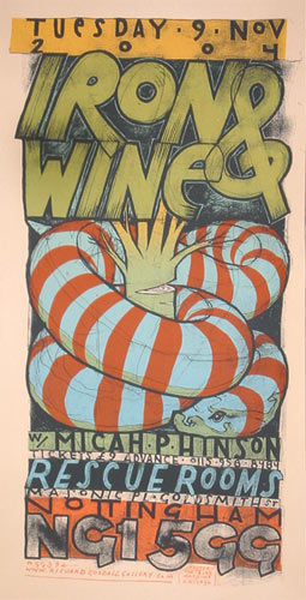 Jay Ryan Iron and Wine Poster