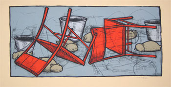 Jay Ryan Marmots, Buckets and Chairs Art Print