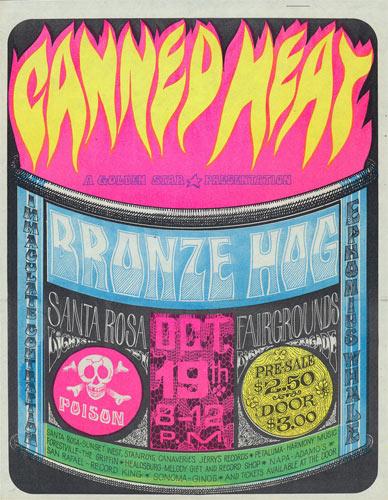 Golden Star Presents Canned Heat in Santa Rosa Handbill Handbill