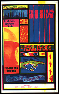 Rare Golden Star Presents The Doors in Santa Rosa Handbill Handbill
