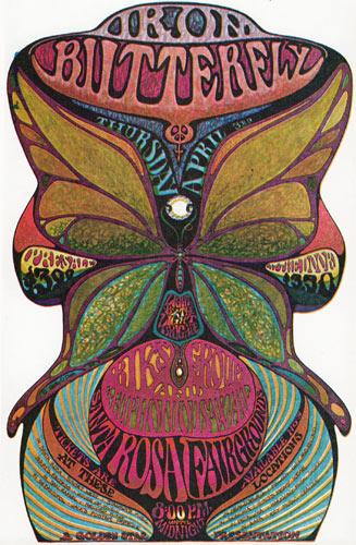 Golden Star Presents Iron Butterfly in Santa Rosa Handbill Handbill