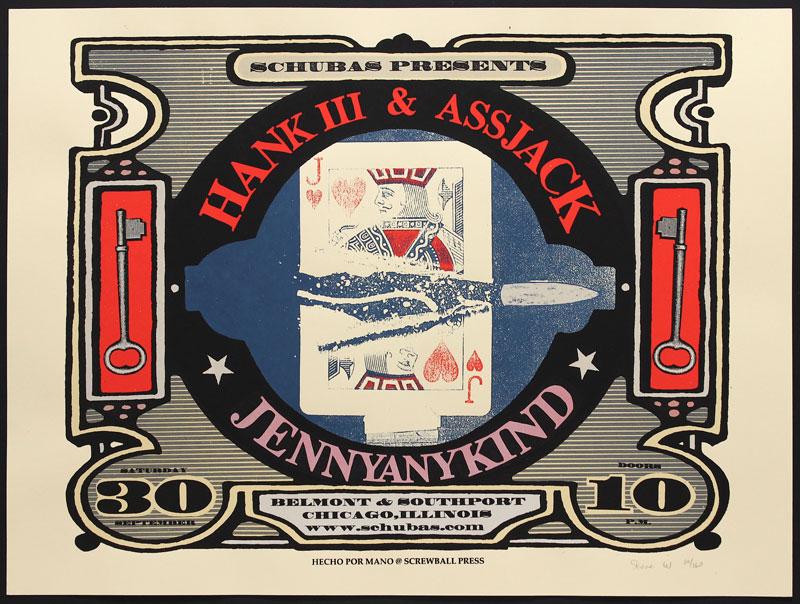 Steve Walters (Screwball Press) Hank (Williams) III Poster