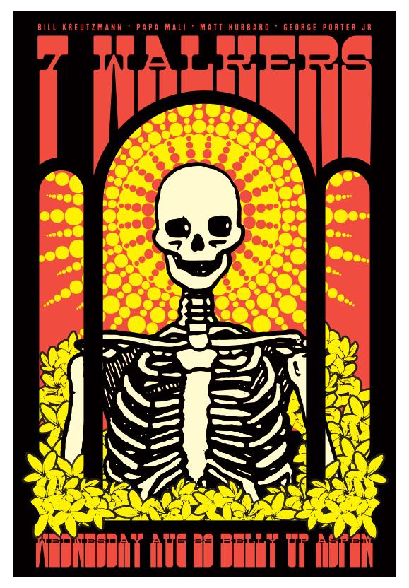 Scrojo 7 (Seven) Walkers (feat. Bill Kreutzmann of Grateful Dead fame) Poster