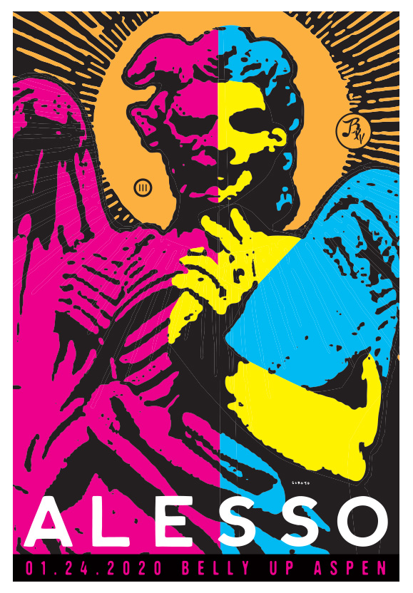 Scrojo Alesso Poster