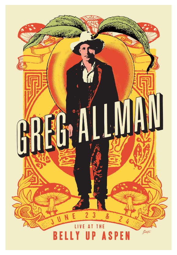 Scrojo Gregg Allman Poster