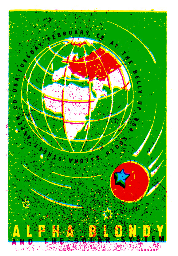 Scrojo Alpha Blondy and the Solar System Poster